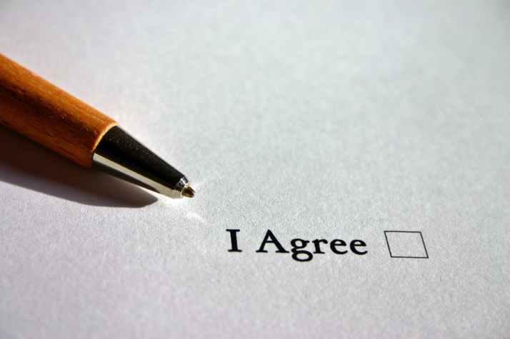 agree agreement ankreuzen arrangement